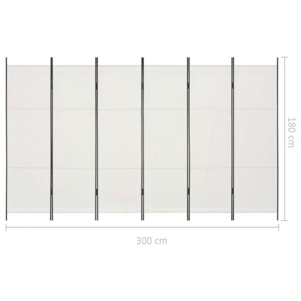 Schöne Cava De Tirreni 6-tlg. Raumteiler Weiß 300 x 180 cm