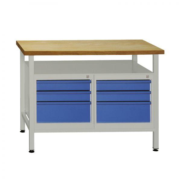 ADB Werktisch / Werkbank mit 6 Schubladen