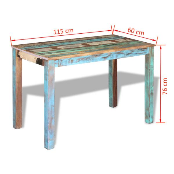 wunderbare Esszimmertisch Recyceltes Massivholz 115x60x76 cm Lienz