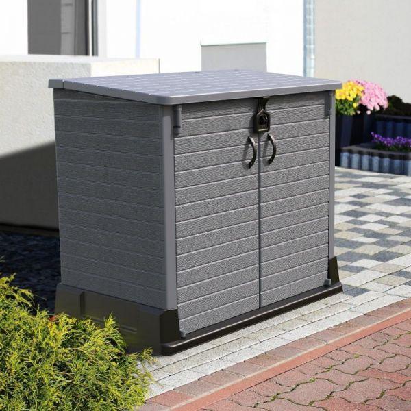 Gartenbox Mülltonnenbox Müllbox Mülltonnenverkleidung 2er Tonnen
