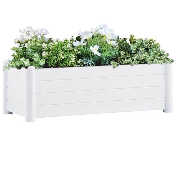 Geschmackvolle Garten-Hochbeet PP Weiß 100x43x35 cm Bannockburn