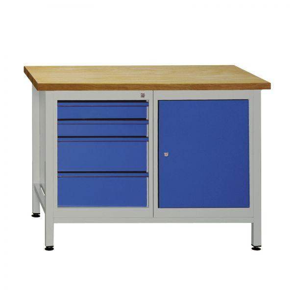 ADB Werkzeugtisch / Werkbank mit 4 Schubladen 1 Tür