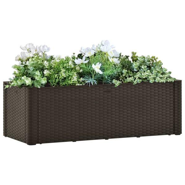 Ausgezeichnete Garten-Hochbeet mit Selbstbewässerungssystem Mokka 100x43x33 cm Woodend