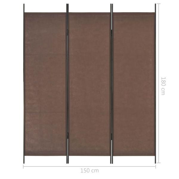 Fabelhafte Vittoria 3-tlg. Raumteiler Braun 150 x 180 cm