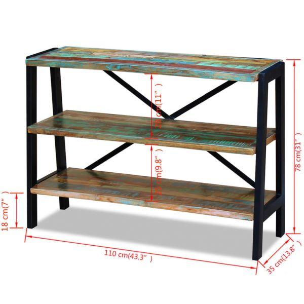 Prachtvolle Linz Sideboard 3 Regalböden Recyceltes Massivholz