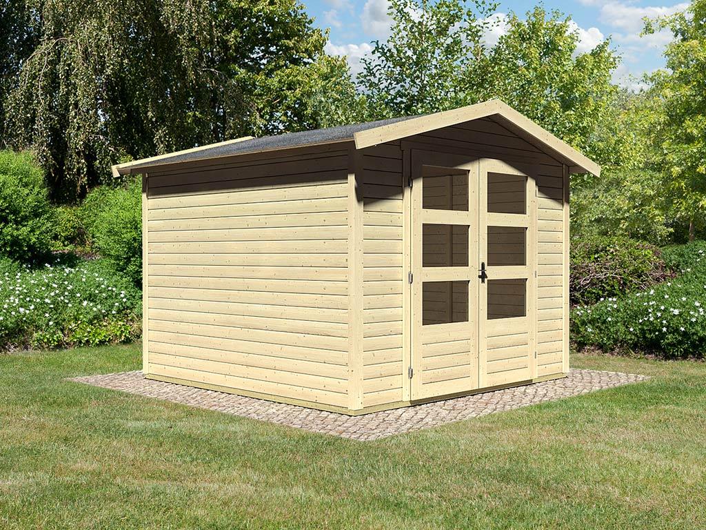 Gartenh user heimwerken garten for Holz doppeltur gartenhaus