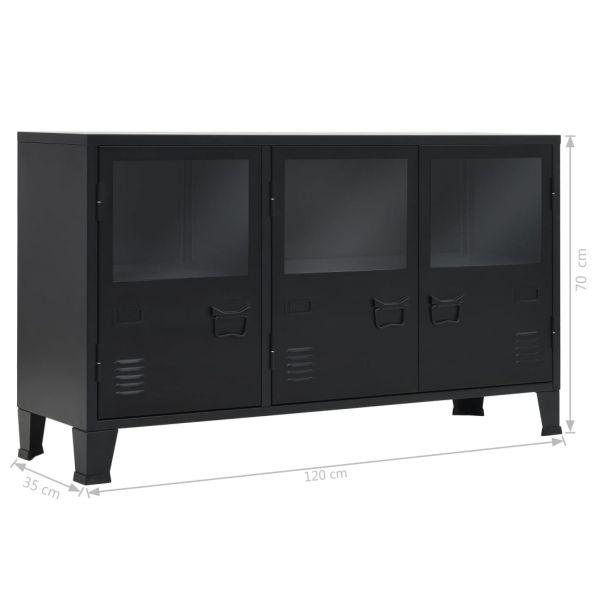 ausgezeichnete Barnsley Sideboard Metall Industrie-Stil 120 x 35 x 70 cm Schwarz