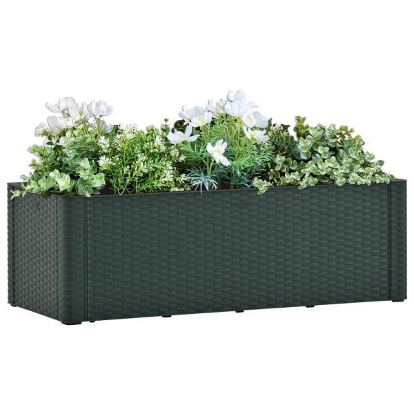 Reizvolle Garten-Hochbeet mit Selbstbewässerungssystem Grün 100x43x33 cm Whittlesea