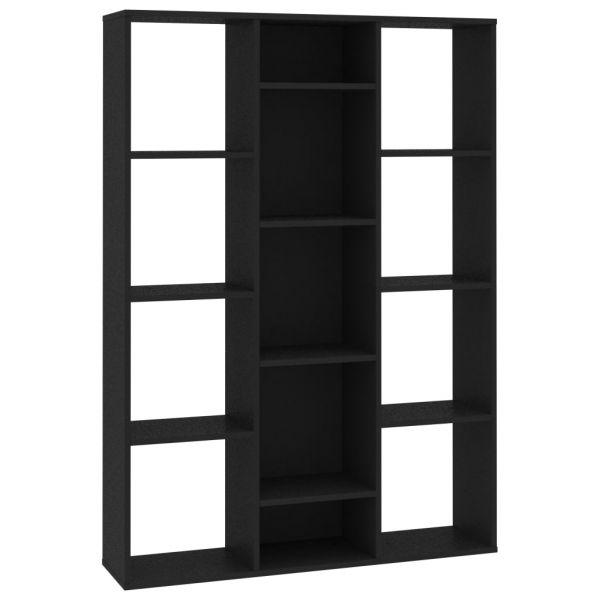Prachtvolle Formia Raumteiler/Bücherregal Schwarz 100 x 24 x 140 cm Spanplatte