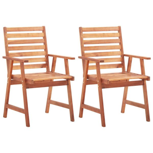 Hochwertige Gartenstühle 2 Stk. Massivholz Akazie Janov