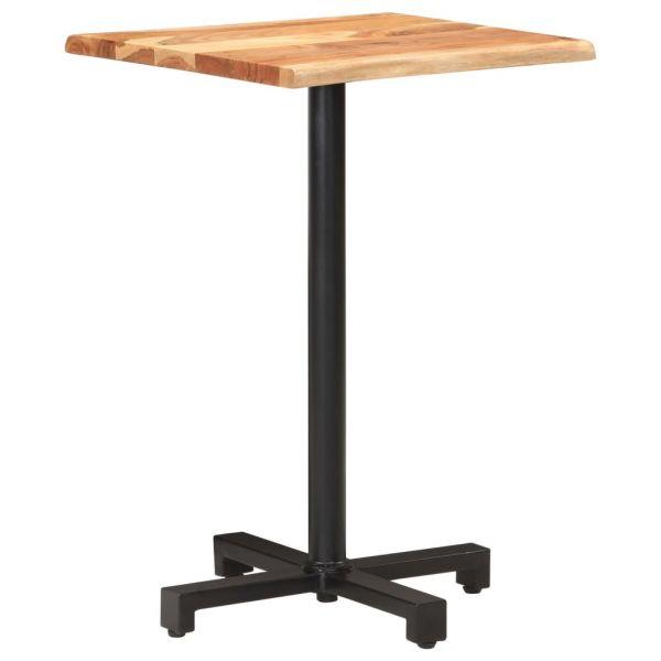 prachtvolle Bistrotisch mit Baumkanten 50x50x75 cm Akazie Massivholz Liezen