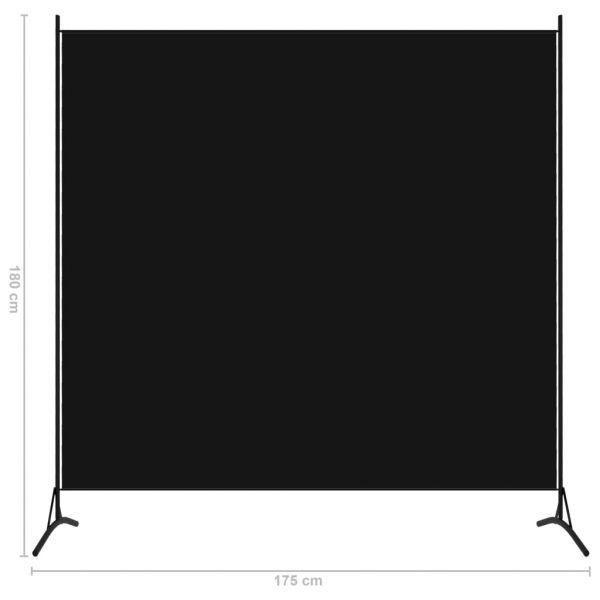 Zauberhafte Limbiate 1-tlg. Raumteiler Schwarz 175x180 cm