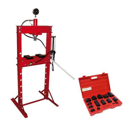 Werkstattpresse 20 to Druckluft / manuell + Treibsatz 14-tlg