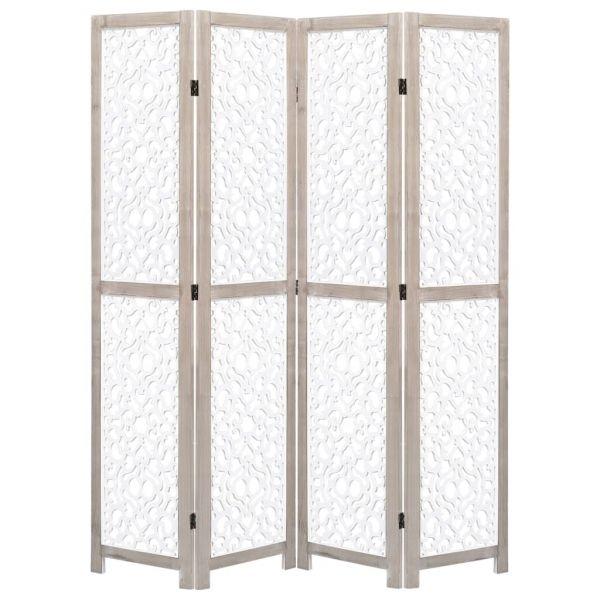 Traumhafte San Giorgio a Cremano 4-teiliger Raumteiler Weiß 140 x 165 cm Massivholz