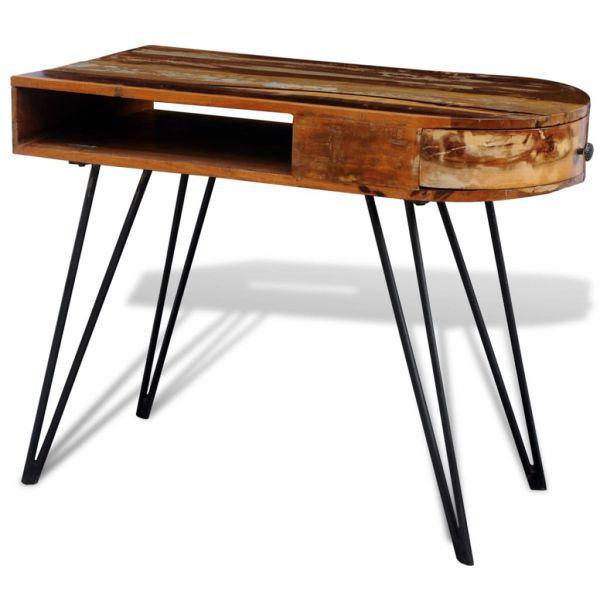 grandiose Gijón grandiose Lyon Tisch mit Eisenbeinen Altholz