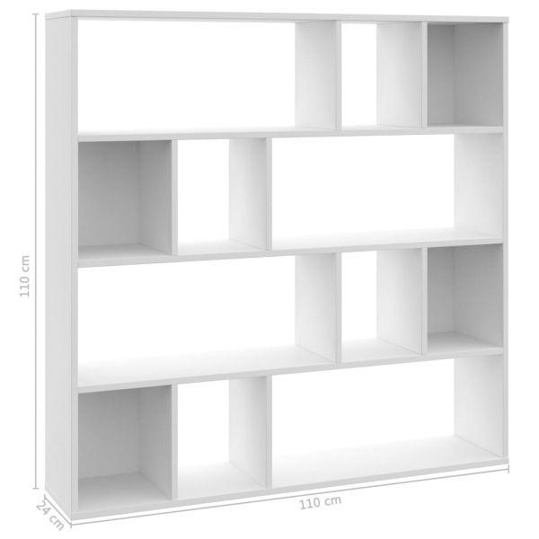 Ausgezeichnete Frattamaggiore Raumteiler/Bücherregal Weiß 110 x 24 x 110 cm Spanplatte