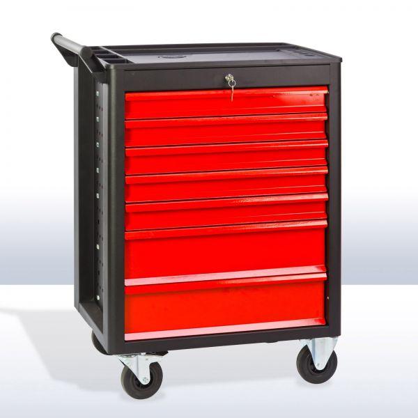 Werkstattwagen / Werkzeugwagen DW7 schwarz / rot abschließbar