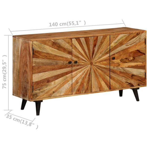 grandiose Dundee Sideboard Mangoholz Massiv 140x35x75 cm