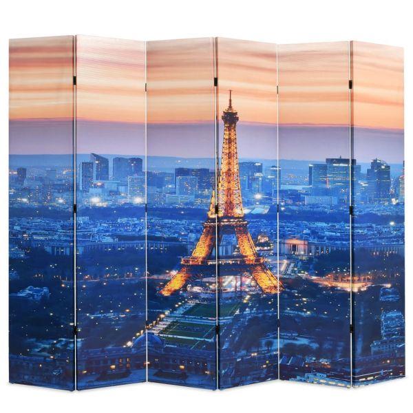 Zauberhafte Bergamo Raumteiler klappbar 228 x 170 cm Paris bei Nacht