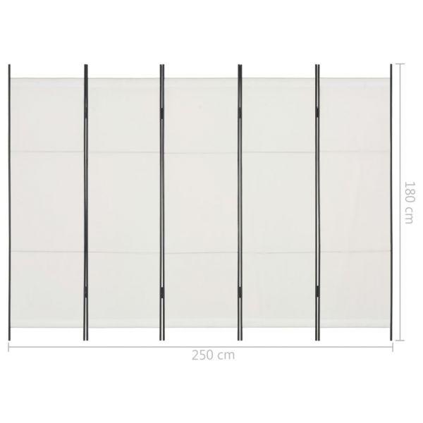 Moderner Viareggio 5-tlg. Raumteiler Weiß 250 x 180 cm