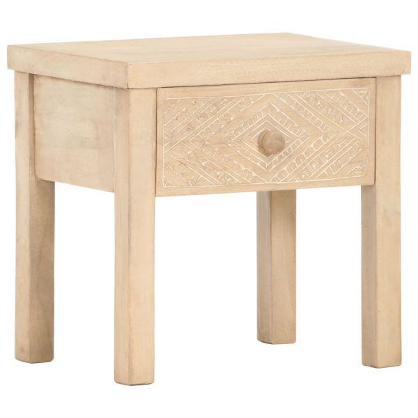 ausgezeichnete Nachttisch 40 x 30 x 43 cm Massivholz Mango Odda