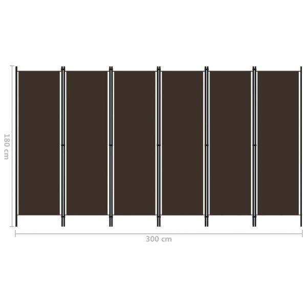 Wunderschöne Pagani 6-tlg. Raumteiler Braun 300x180 cm