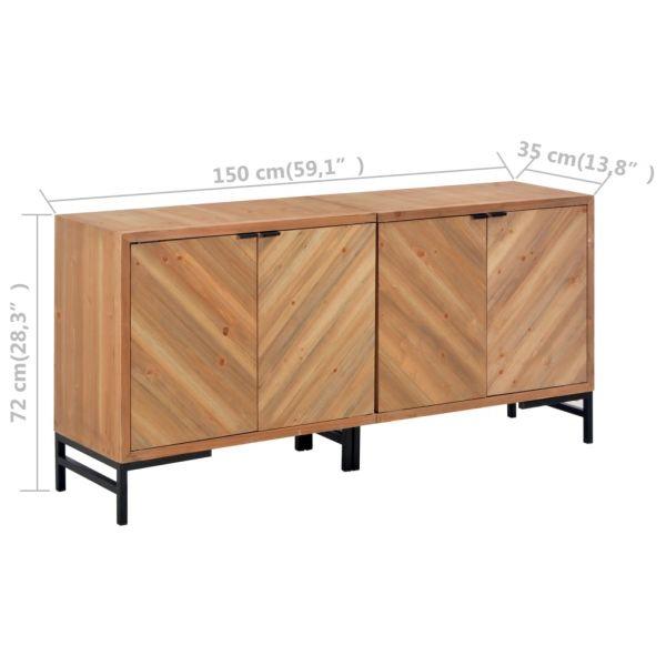 bildschöne Rotherham Sideboard 150 x 35 x 72 cm Massivholz