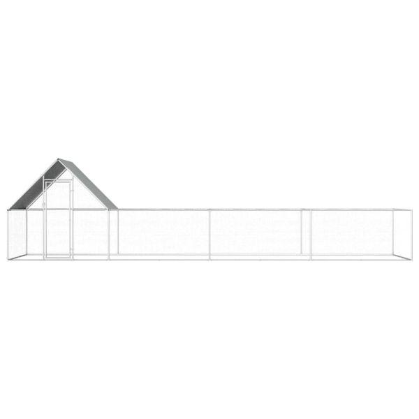 Stabiler Hühnerstall Hühnervoliere 8 x 2 x 2 m Oradea