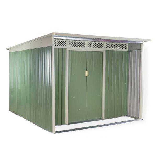 Großes, geräumiges und schönes Gerätehaus aus Metall. 340x334x191 cm