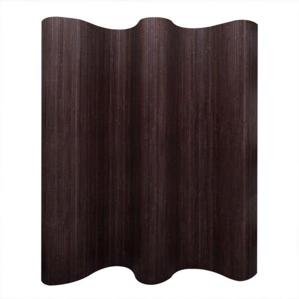 Trendige Bari Raumteiler Bambus Dunkelbraun 250x165 cm
