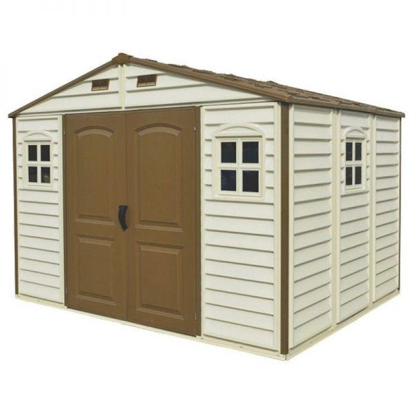 Gartenhaus PVC Geräteschuppen WoodSide 10,5X8 Duramax Premier, 325 x 240 x 233 cm