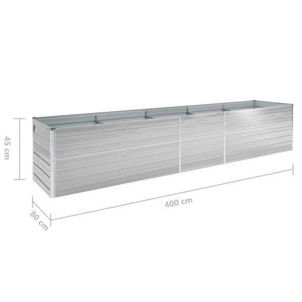 Wunderbare Garten-Hochbeet Verzinkter Stahl 400x80x45 cm Grau North Mackay