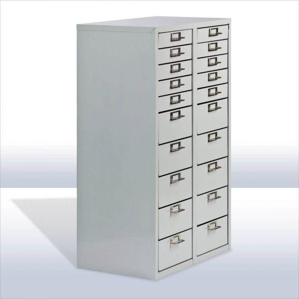 ADB Schubladencontainer / Schubladenschrank 20 Schubladen 860x530x365 mm