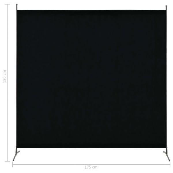 Trendige Rho 1-tlg. Raumteiler Schwarz 175 x 180 cm