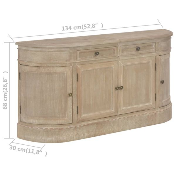ausgezeichnete Eastbourne Sideboard 134 x 30 x 68 cm Massivholz