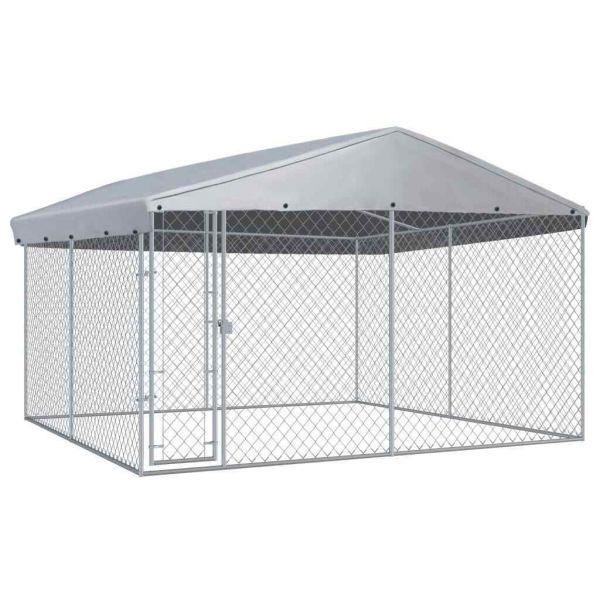 Qualitative Hundezwinger mitÜberdachung 3,8 x 3,8 x 2,4 m Dabrowa Gornicza