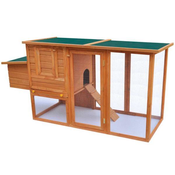Outdoor Hühnerstall mit 1 Legebox Holz Focsani