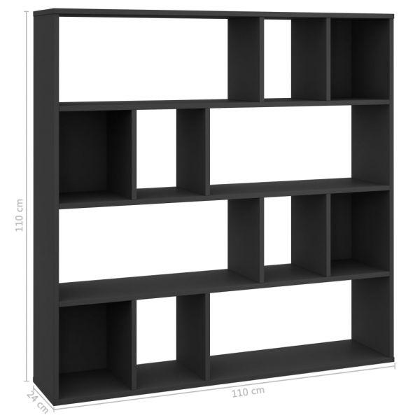 Fabelhafte San Paolo Raumteiler/Bücherregal Schwarz 110 x 24 x 110 cm Spanplatte