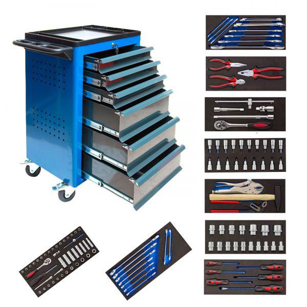ADB Werkzeugwagen Basic blau gefüllt 115 teilig