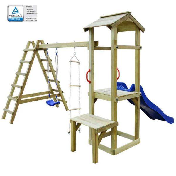 Spielturm mit Leiter Rutsche und Schaukeln ' Sonia '