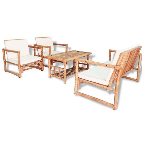 Robustes Bambus Lounge Sitzgruppe Gartenmöbel-Set 12-tlg. NEU!