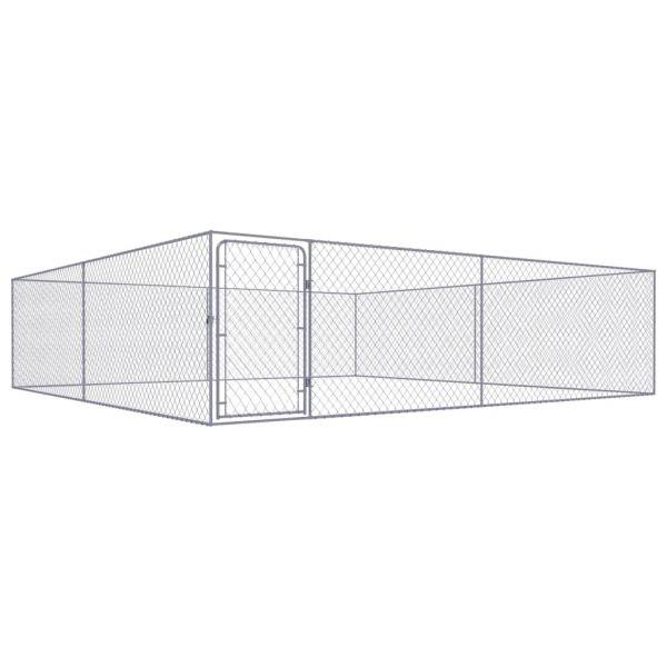 Kompakter Outdoor-Hundezwinger Verzinkter Stahl 4 x 4 x 1 m Rybnik