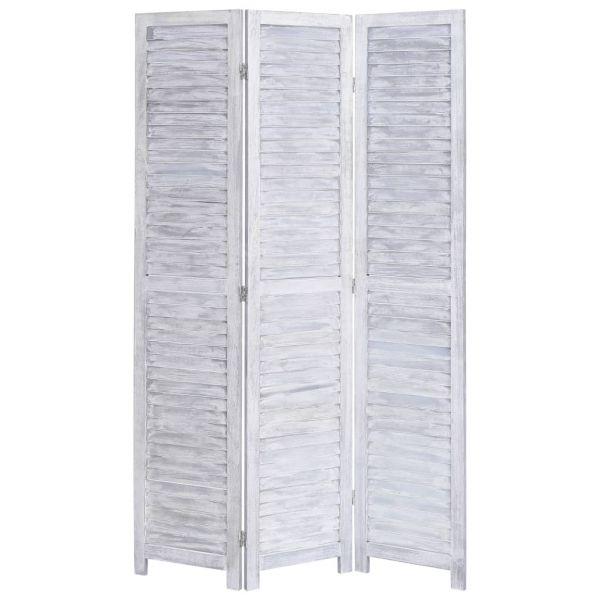 Wunderschöne Alcamo 3-tlg. Raumteiler Grau 105 x 165 cm Holz