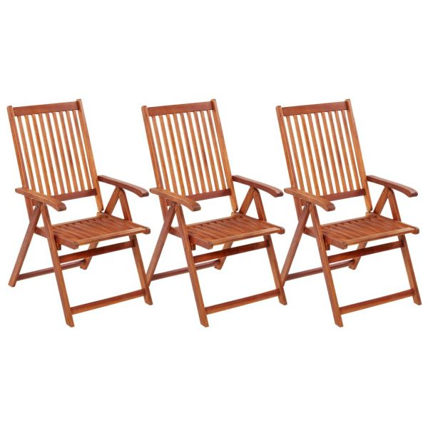 Ausgezeichnete Klappbare Gartenstühle 3 Stk. Massivholz Akazie Březová