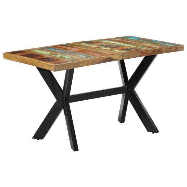 traumhafte Esstisch 140 x 70 x 75 cm Recyceltes Massivholz Puntigam