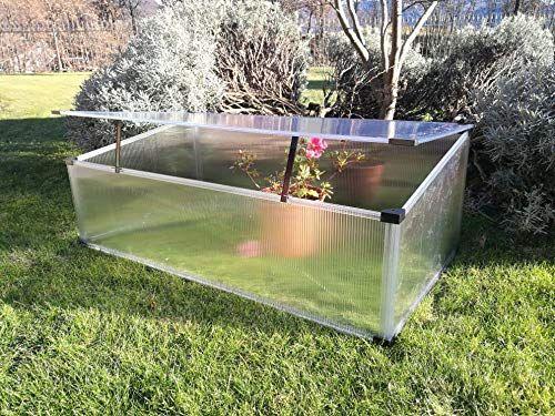Gewächshaus aus Polycarbonat Slide and Grow 97 x 57cm für Garten, Gemüsegarten und Balkon