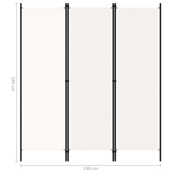 Wunderschöne Casalecchio di Reno 3-tlg. Raumteiler Weiß 150x180 cm